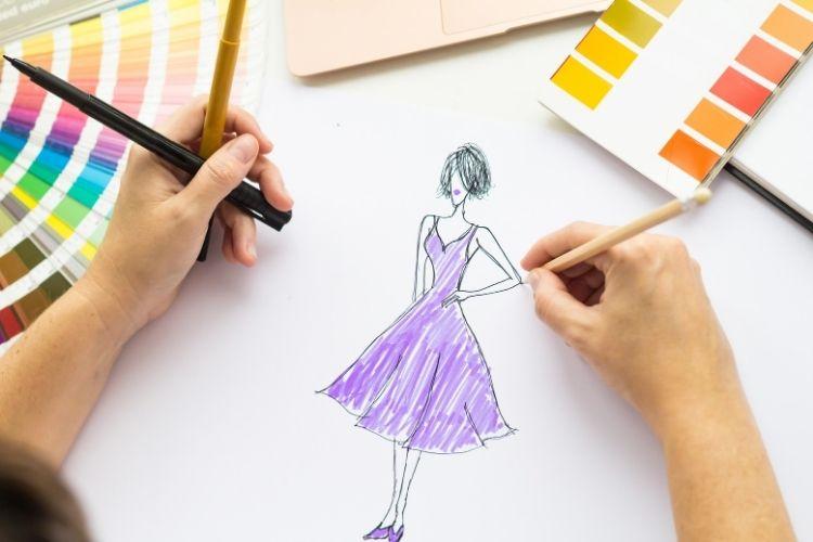 رسم فستان